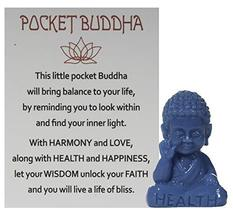 Gnz 1.5 Inch Pocket Buddah Charm/Shelf Sitter with Story Card (Health) - £3.34 GBP