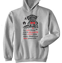 BOXER IS THE ONLY THING - NEW COTTON GREY HOODIE - $40.66