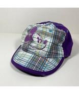 Disney Parks Mickey Mouse Baseball Cap Hat Purple Plaid Rhinestones Wome... - $24.70
