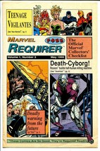 Marvel Requirer #3 1990-info on upcoming Marvel issues-FN - $55.87