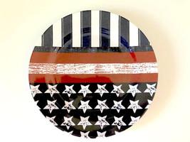 """Patriotic Melamine Dinner Plates Flag Design 10.25"""" Set of 4 Earth Friendly - $598,90 MXN"""