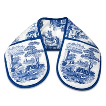 "CLASSIC BLUE ITALIAN FLORAL BLUE WHITE DOUBLE OVEN GLOVE 18 X 88CM – 7"" ... - $17.63"