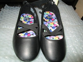 Toddler girls black casual dress shoes size 10 Brand New - $10.00