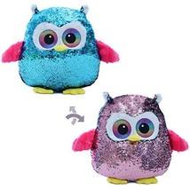 Athoinsu Flip Sequin Owl Stuffed Animal Throw Pillow Glitter Plush Cushion Spark