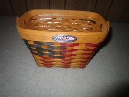 Longaberger USA Anniversary American Flag Basket & Protector NEW - $44.50