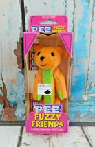 PEZ Fuzzy Friends TJ Bear Collectible Dispenser New in package NOS - $6.92