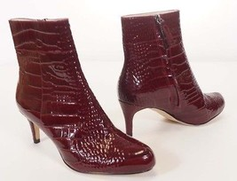 Kate Spade New York Women Red Patent Alligator Leather Ankle Heel Bootie... - $99.99