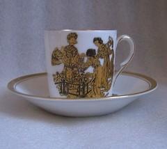 Bidasoa Espana Signed CHINOISERIE DEMITASSE CUP SAUCER COFFEE CAN Collec... - $12.61
