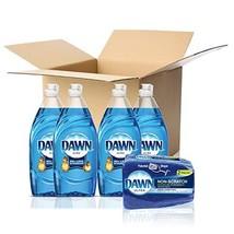 Dawn Ultra Dishwashing Liquid Dish Soap 4x19.4oz + Dawn Non-Scratch Spon... - $18.93