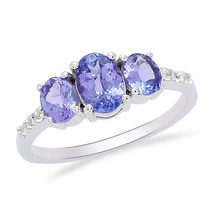 1.55 Carat Tanzanite Gemstone 925 Sterling Silver Party Wear  Ring Sz 6 ... - £26.81 GBP