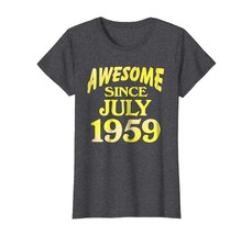 Uncle Shirts -   Birthday Shirt Awesome Since June 1959 Gifts 59 Years O... - $19.95+