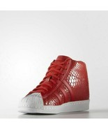 Adidas Women's Red Superstar Up Casual Fashion Sneakers S79380  - $125.97