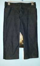 Lee Size 10P Natural Fit Just Below The Waist Straight Capri Cropped Jeans - $12.99