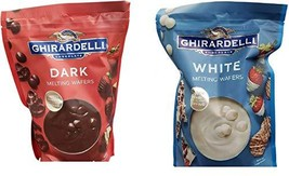 Ghirardelli White and Dark Chocolate Melting Wafers ~ 2 flavors - $39.59