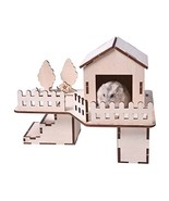 Panda Legends DIY Assembly Hamster Wooden Habitat House Hideout Hut for ... - $24.80