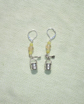 Summer Sand Bucket Gemstone Dangle Earrings with European Leverbacks - $11.99