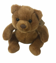 "Vintage Russ Berrie PEANUT BUTTER Teddy Bear 9"" Plush Brown Sittin - $27.47"