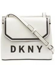 DKNY BLACK &WHITE JADE FLAP LEATHER Medium Crossbody Bag NEW - $95.00