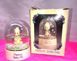 "PRECIOUS MOMENTS - ""Precious Baby Girl"" figurine Girl Globe dated 1985 8C - $7.99"