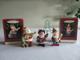 Hallmark Christmas Ornament Lot : Howling Good Time Santa's Serenade Roundup - $14.99