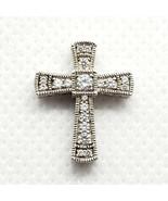 PAJ Sterling Silver 925 Cubic Zirconia Cross Pendant FREE Shipping - $16.99