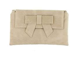 ef7adf33eb LONI Womens Clutch Bag Shoulder Bag Wristlet in Suede Faux Leather in Nu.