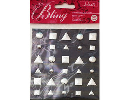 Jolee's Bling Silver Variety Studs Stickers #50-20775