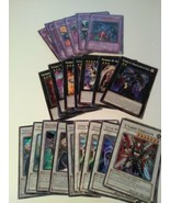 Lot of 26 Yu-gi-oh Trading Cards Battle Game Black White Purple Color Cards - $8.92