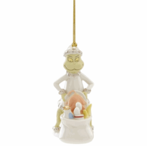 Lenox Grinch Steals The Who's Feast Ornament Dinner Dr Seuss Stole Chris... - $49.50