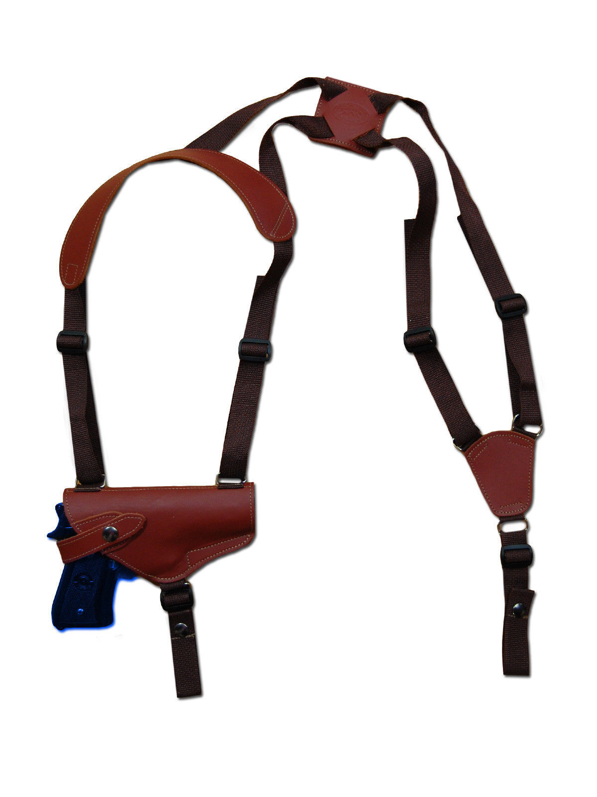 Primary image for NEW Barsony Horizontal Burgundy Leather Shoulder Holster CZ, EAA, FEG Full Size