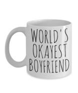 Worlds Okayest Boyfriend Mug Best Gag Gift Birthday For Him Ceramic Coff... - $14.65+