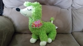 "Poodle Green Brand New Plush NWT Stuffed Animal w/ Tags 12"" - $14.99"