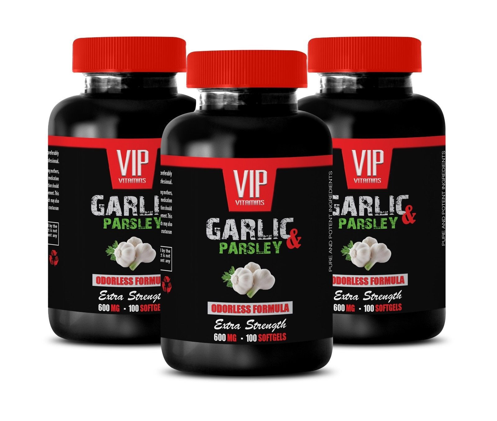 Primary image for parsley seed extract - ODORLESS GARLIC & PARSLEY 600mg - immune booster 3B