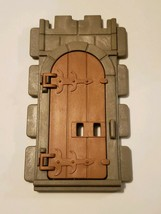 1977 Playmobil 3666 Castle Wall Door, Gate - Medieval Knights Parts - Vi... - $6.95