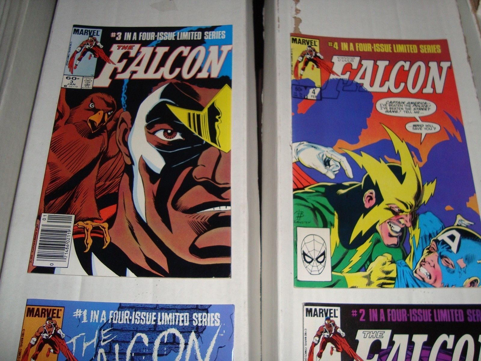 The Falcon #1 - 4 Complete Marvel Comic Book Mini Series VF Condition 1984