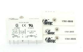LOT OF 4 WESTERN RESERVE CONTROLS 1781-IB5S SLIM I/O MODULES 5VDC LOGIC 50MA