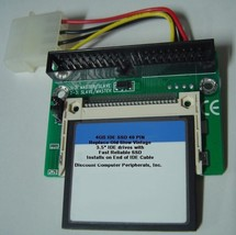"""4GB SSD Replace Vintage 3.5"""" IDE Drives with this 40 PIN IDE SSD Card & Adapter"""