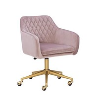 Linon Pink Quilted Brooklyn Office Chair - $999.99