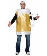 Beer Mug Costume Adult Alcohol Halloween Party Unique Cheap GC7075 - £38.00 GBP