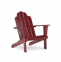 Linon Red Adirondack Chair, 30.4' W x 37.6' D x 37.8' H - $346.71