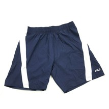 FILA Men Blue Athletic Shorts Size Small S Adult Loose Fit Modern Fitnes... - $12.48