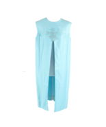 Light blue open front sleeveless applique pearl vintage tunic dress L - $59.99