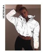 SEXEMARA Reflective Jacket Winter Coat Women Parka Streetwear Fashion 20... - $67.54+