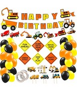 Mocoosy Construction Birthday Party Supplies, Dump Truck Excavator Party... - $14.11