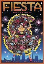 2017 San Antonio Fiesta poster | 24 x 36 INCH | Texas, Oyster bake, niosa - $18.99