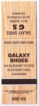 Ioannina Greece Matchbook Cover Galaxy Shoes  Eddy Match - $1.89