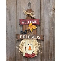 """Welcome Friends Scarecrow Head 16"""" - $37.90"""