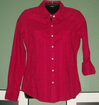 New Cute ARIZONA Rolled Tab Button 3/4 or Long Sleeve Blouse - $14.84