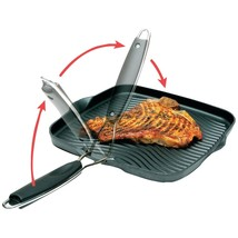 """Starfrit 10"""" X 10"""" Grill Pan With Foldable Handle SRFT30036S - $38.11"""