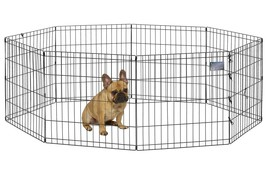 "Portable Folding Exercise Pet Playpen Dog Fences Puppy Gate Home In 24""W... - $39.80"